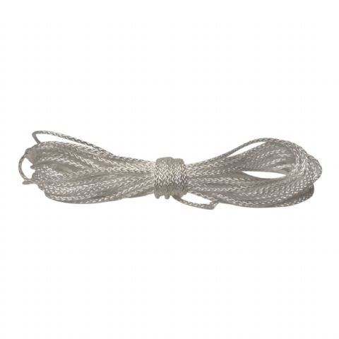 1.00mm Synthetic Braided Rope 21ft (6.40mtrs) long in a white colour